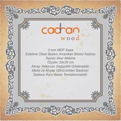 Cadran Wood CW299 Mdf Duvar Saati - 30x30 cm