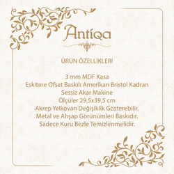 AntiQa ASC189 French Sytle Elips Duvar Saati - 29,5x39,5 cm