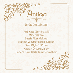 AntiQa ASC104 Kids Camlı Dekoratif Duvar Saati - 35x35 cm