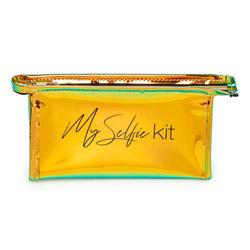 MMC Ayna Hologram Biyeli Kozmetik Çantası - Sarı