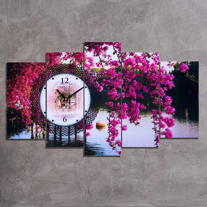 Resim  Doku Tablo PGS145 Kanvas Tablo Saat - 5 Parçalı