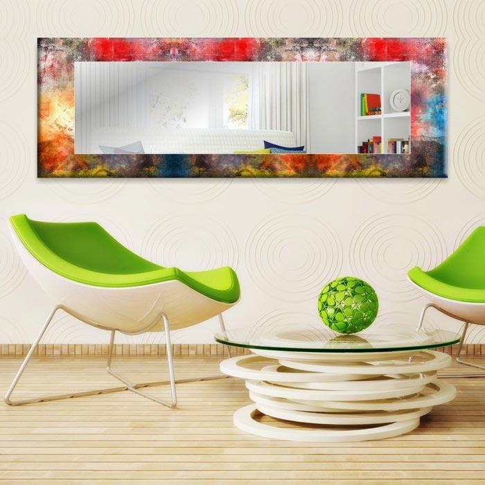 Resim  Modacanvas Hma359 Dekoratif Yatay Ayna - 120x40 cm