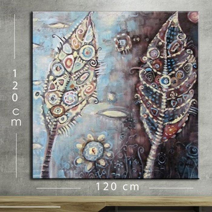 Resim  Doku Tablo KR164 Mega Dijital Yağlı Boya Tablo - 120x120 cm