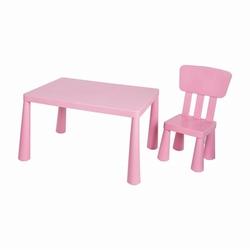 Asz Çocuk Masa Sandalye Seti - Pembe (1 Masa-1 Sandalye)