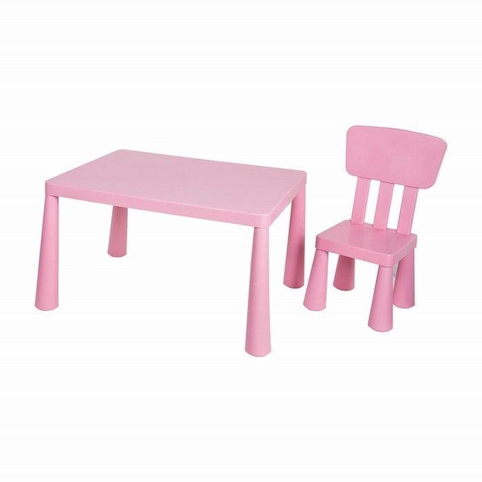 Resim  Asz Çocuk Masa Sandalye Seti - Pembe (1 Masa-1 Sandalye)