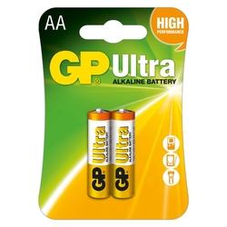 GP Batteries GP15AU Ultra Alkalin LR6/E91/AA Boy Kalem Pil - 1.5 V 2'li Kart