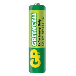 GP Batteries GP24G Greencell R03/1212/AAA İnce Pil - 1.5 V 4'lü Kart