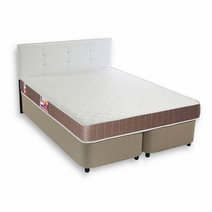 House Line Elif Çift Kişilik Baza + Başlık + Yatak Takımı (Beyaz) - 160x190 cm