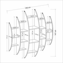 House Line Alvino Duvara Monte Kitaplık - Beyaz