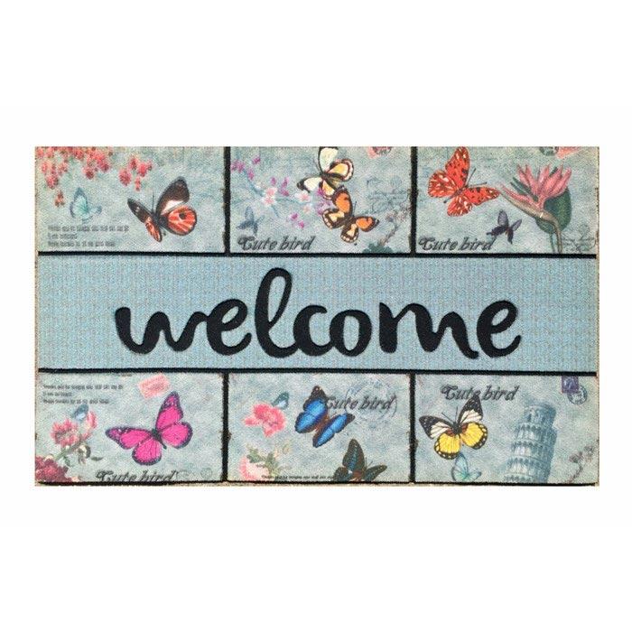 Giz Home 103MZ61021916 Mozaik Kapı Paspası - 45x75 cm