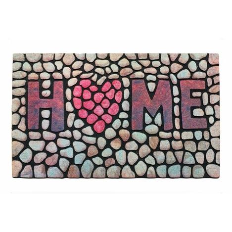 Giz Home 103MZHOKP1918 Mozaik Kapı Paspası - 40x60 cm