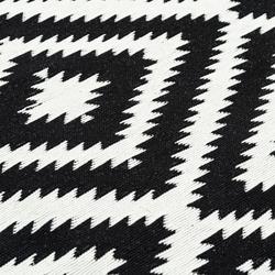 Giz Home M11 Molly Pamuklu Kilim (Siyah/Beyaz) - 120x180 cm