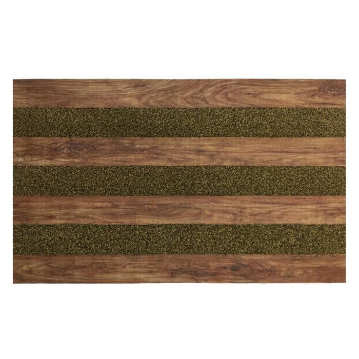 Resim  Giz Home Woody Kapı Paspası (Koyu Kahve) - 45x75 cm