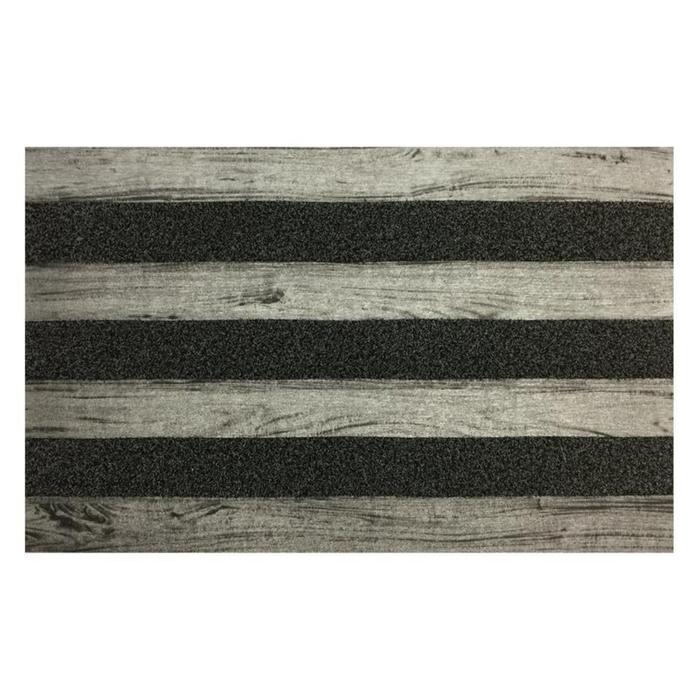 Giz Home Woody Kapı Paspası (Gri) - 45x75 cm