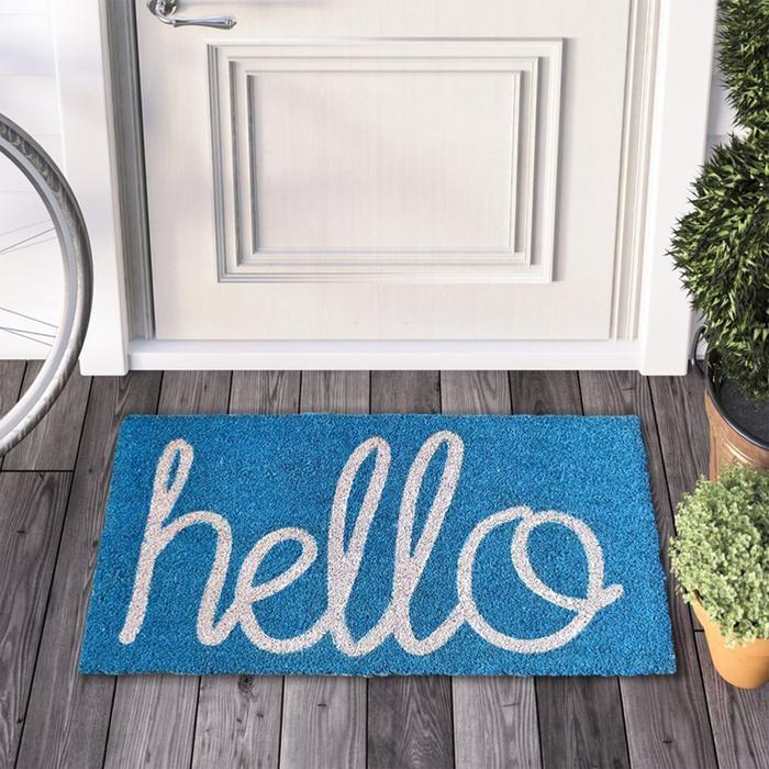 Resim  Giz Home Koko Hello Kapı Önü Paspası - 45x75 cm