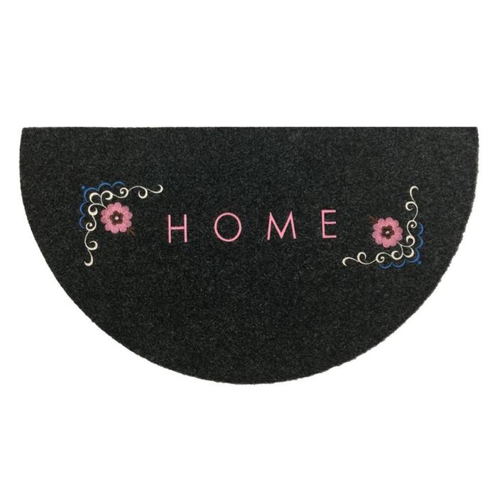Giz Home Nakışlı/Brode Çiçek Kapı Önü Paspası - 40x70 cm