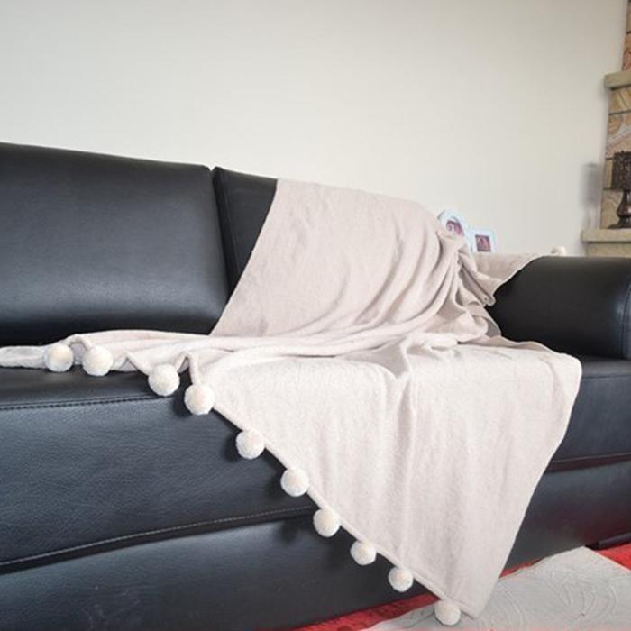 Resim  Giz Home Carmel Koltuk Şalı (Bej) - 130x170 cm