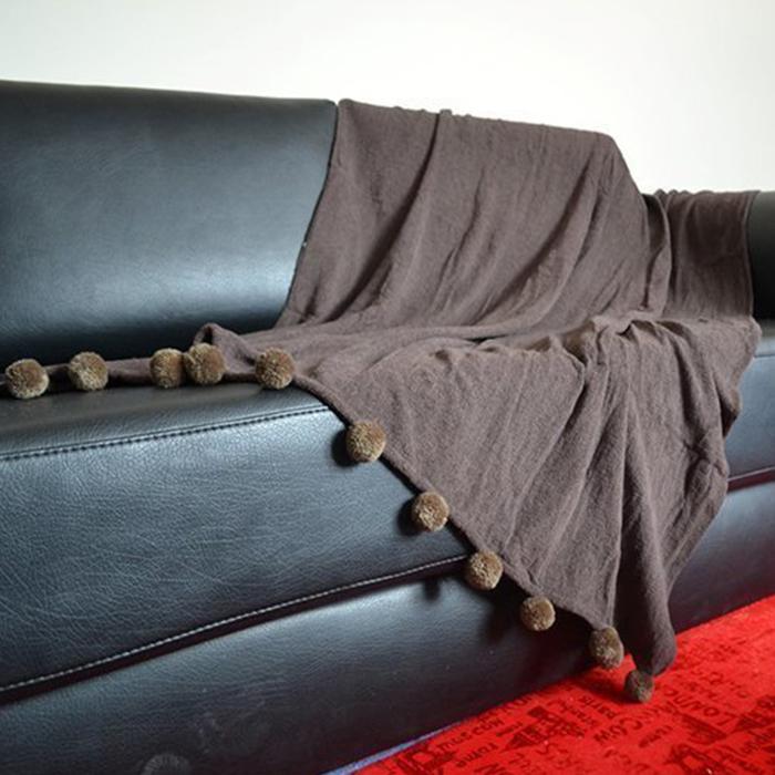 Resim  Giz Home Carmel Koltuk Şalı (Kahve) - 130x170 cm