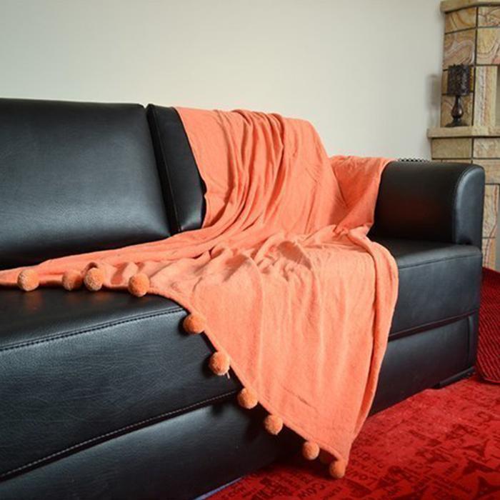 Resim  Giz Home Carmel Koltuk Şalı (Turuncu) - 130x170 cm
