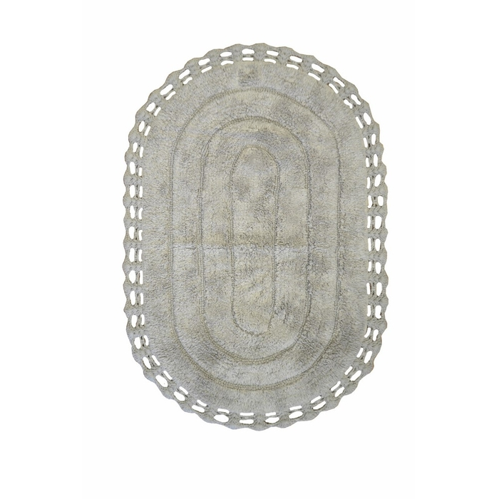Giz Home Lace Banyo Paspası (Gri) - 60x100 cm