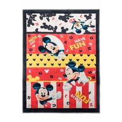 Giz Home Mickey Lisanslı Çocuk Halısı - Kırmızı