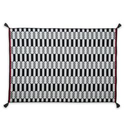 Giz Home Molly ML10 Dama Kilim (Siyah/Beyaz) - 120x180 cm