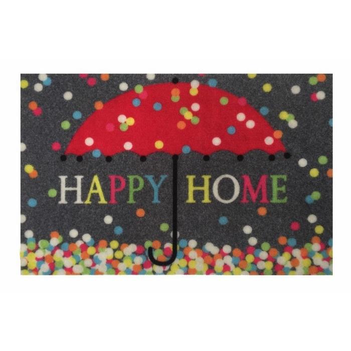 Giz Home Magic Renkli Şemsiye Kapı Paspası (Renkli) - 40x60 cm