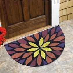 Giz Home Oscar Yıldız Çiçek Kapı Paspası (Renkli) - 40x65 cm