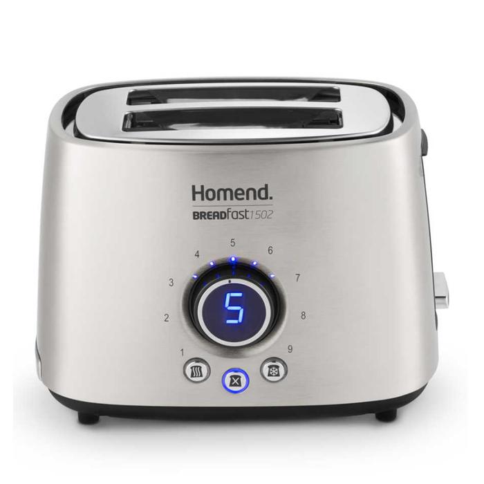 Resim  Homend 1502 Breadfast Ekmek Kızartma Makinesi - Krom / 1000 Watt