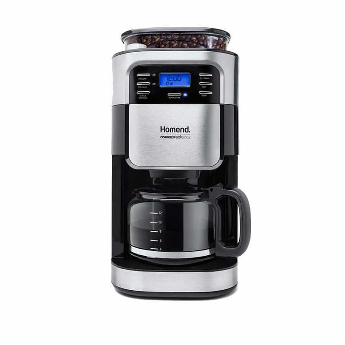 Resim  Homend 5002 Coffeebreak Öğütücülü Filtre Kahve Makinesi - Siyah/Gri / 900 Watt
