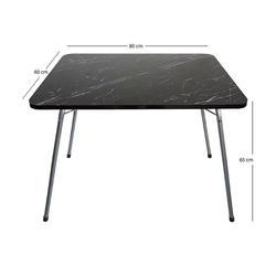 Byeren Granit Desen Katlanır Pratik Piknik Masası - 60x80 cm