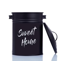Evstyle Sweet Home Metal Saklama (Siyah) - 3 lt