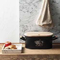 Evstyle Ahşap Kesme Tahtalı Ekmek Kutusu - 33x20x16.5 cm