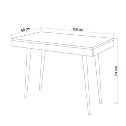 Mymob Dora Meşe Çalışma Masası - Meşe