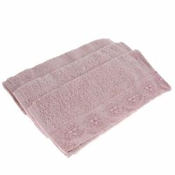 Cotton Box 3'lü Güpürlü Havlu Seti - Pudra