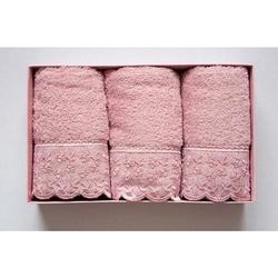 Cotton Box 6'lı Güpürlü Havlu Seti - Pudra