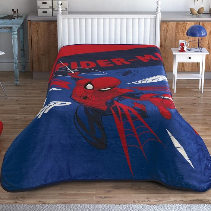 Taç Lisanslı Spiderman Thwip Tek Kişilik Battaniye 160x220 cm