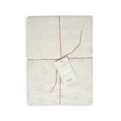 Cynthia Violet Simli Jakarlı Masa Örtüsü (Bej) - 150x300 cm