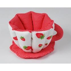 By Nihalce nihalce36 Fincan Ekmek Sepeti - Kırmızı/Beyaz