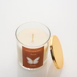 White Collection Bardak İçi Mum Altın Kapaklı - Tarçın / Patcholy