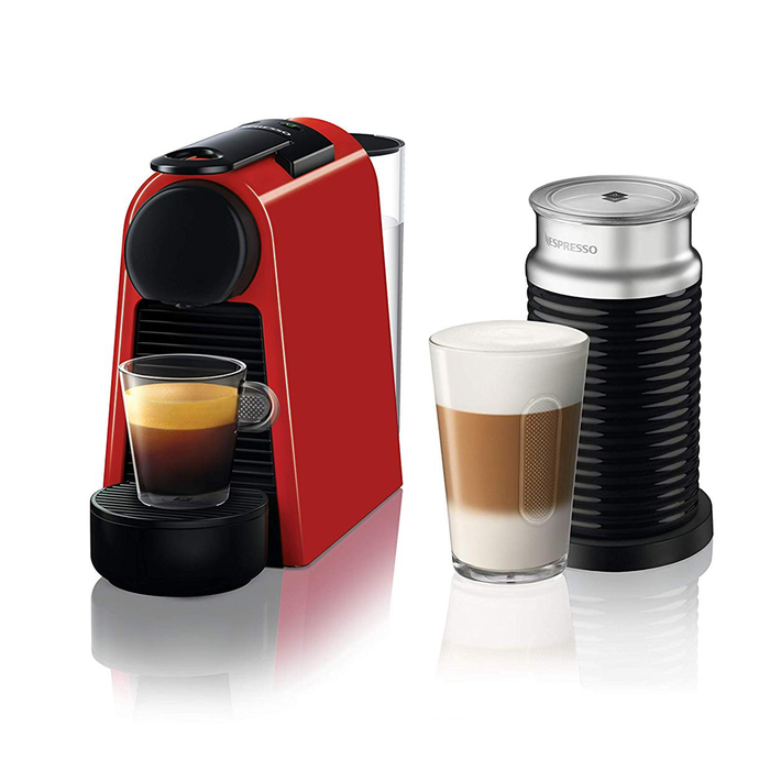 Resim  Nespresso D35 Essenza Mini Bundle Kahve Makinesi - Red