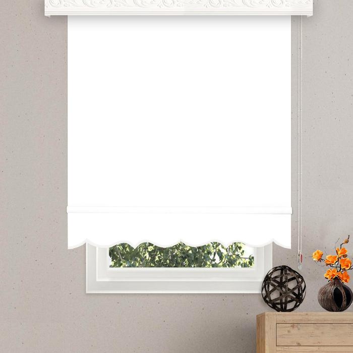 Brillant Etek Dilimli Stor Perde (Beyaz) - 70x260 cm