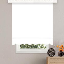 Brillant Etek Dilimli Stor Perde (Beyaz) - 120x200 cm
