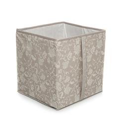 Ocean Home ÇiçekDesen Baskılı Kapaksız Kutu (Taş) - 33x33x30 cm