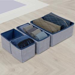 Ocean Home Çizgili Çekmece İçi Organızer Set - Lacivert