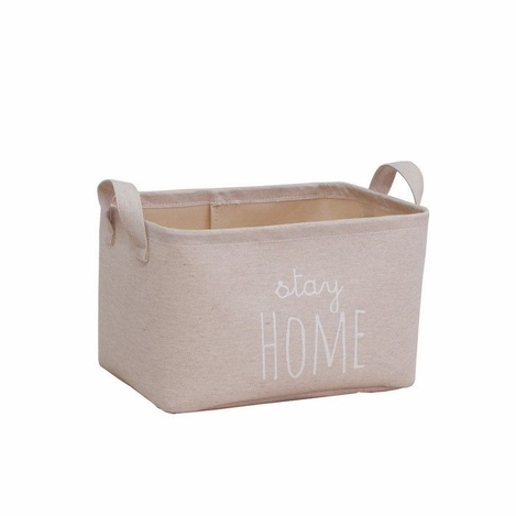 Ocean Home Baskılı Çok Amaçlı Sepet (Bej) - 30x21x18 cm