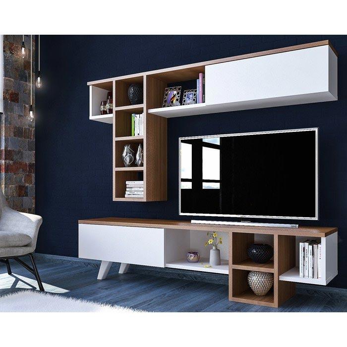 Resim  Just Home Romeo Tv Ünitesi - Ceviz / Beyaz