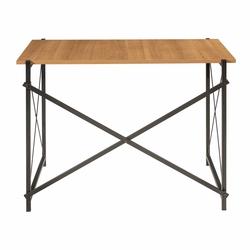Ofisbazaar Metal Ayaklı Çalışma Masası - Siyah / Kiraz