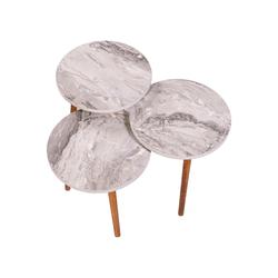 Ofisbazaar Nature Zigon Sehpa - Beyaz Mermer