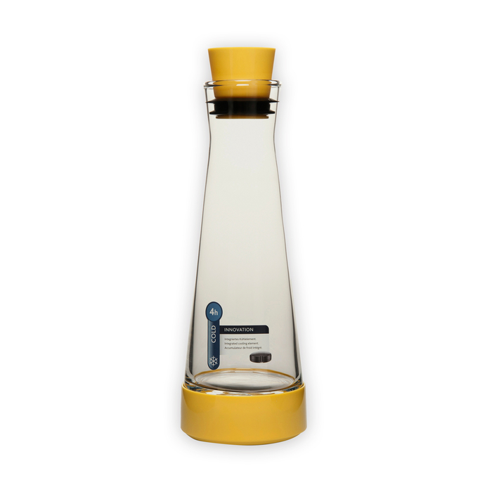 Emsa Flow Slim Akrilik Soğuk Tutucu Karaf - Sarı / 1.0 lt
